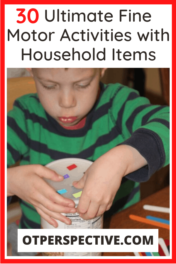 Did you know that your house is full of fine motor activities that your kiddo can do every day? You'll be surprised how easy it can be! #finemotoractivities #finemotoractivitiesforkids #finemotoractivitiesforpreschoolers #finemotoractivitiesforkindergarten #finemotoractivitiesathome #finemotoractivitiesforkidspreschool
