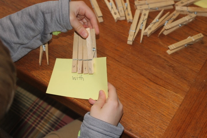 Use Clothes Pins with letters written on them to practice site words