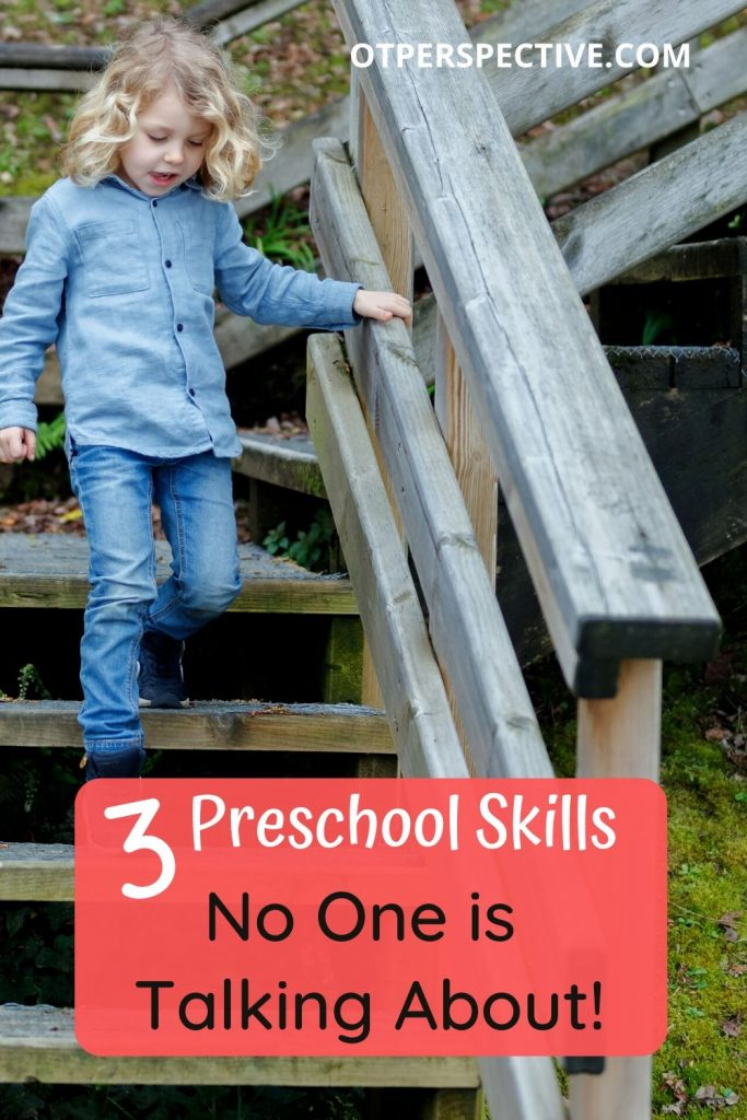 Learn which Preschool Skills OT, PT, Speech Therapists, and Preschool Teachers think are most important in giving your 3 year old a strong foundation! #preschoolreadiness #preschoolreadinessactivities #preschoolskills #preschoolactivitiesathome #preschoolreadinesstoddlers #childdevelopment #3yearoldactivities #3yearoldlearningactivities
