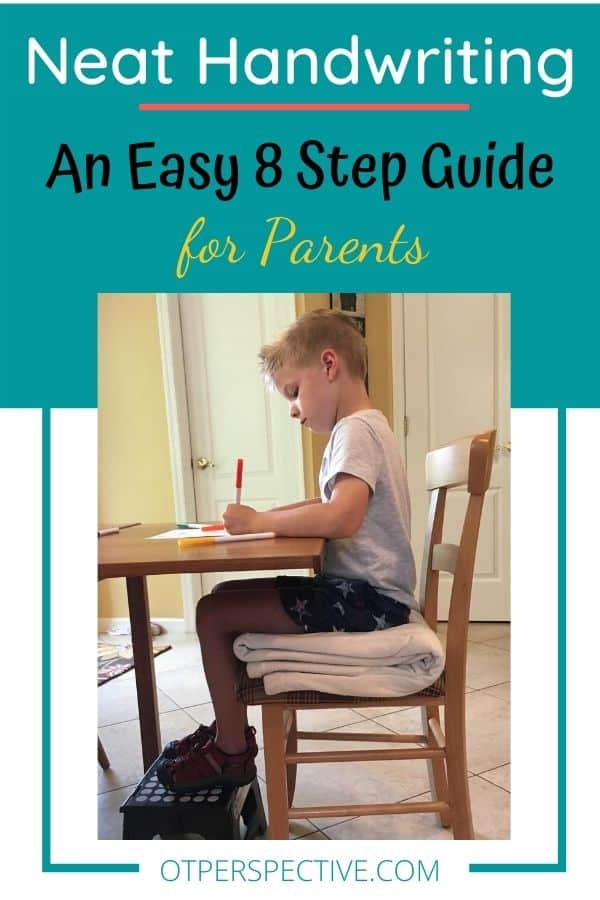 Does your kiddo struggle with having neat handwriting? Use this easy 8 step guide to start improving their writing today! Neat handwriting. Improve handwriting kids. Improve handwriting kids occupational therapy. Ways to improve handwriting kids. Tips to improve handwriting kids. Improve handwriting kids elementary schools.
