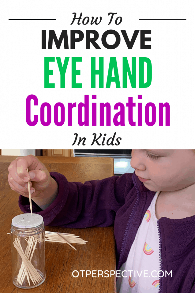 Improve your kids Eye Hand Coordination by learning the signs that indicate your kiddo is struggling, and games you can start playing today! Eye hand coordination activities. eye hand coordination. Eye hand coordination activities preschool. Eye hand coordination activities occupational therapy